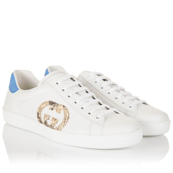 Gucci GG Snakeskin Ace Leather Sneaker
