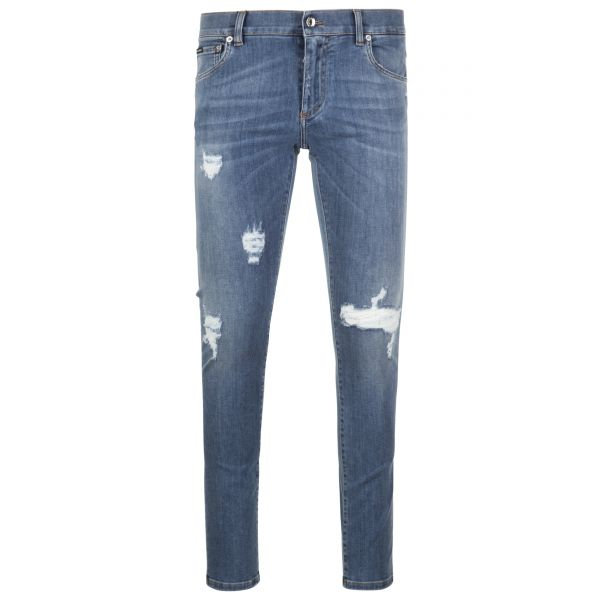 Dolce & Gabbana Ripped/Distressed Skinny Jeans