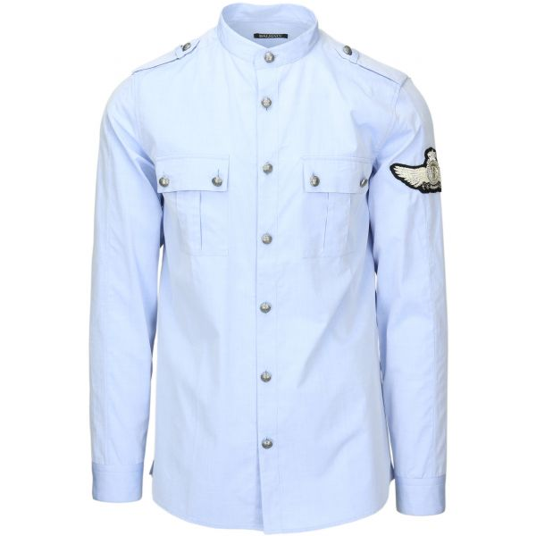 Balmain Military Patch Shirt