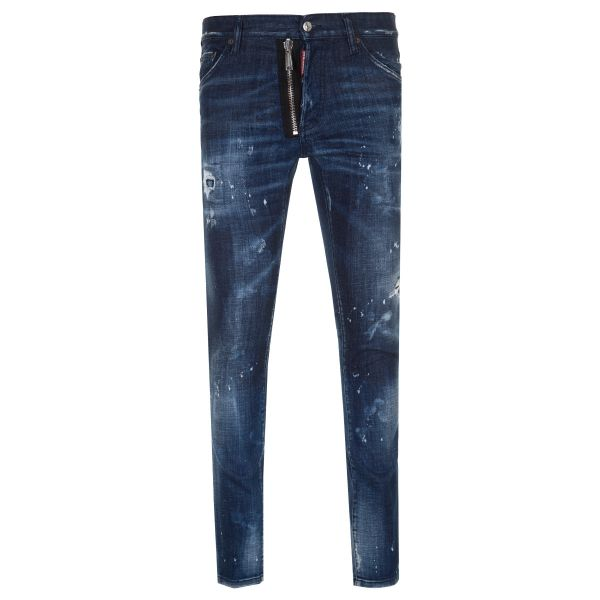 DSquared2 White Paint Spot Zip Fly Cool Guy Jeans