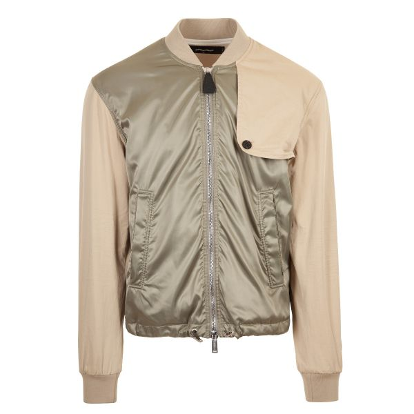 DSquared2 Panelled Two Tone Bomber Jacket