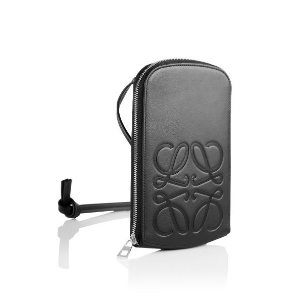 Loewe Anagram Embossed Leather Pouch